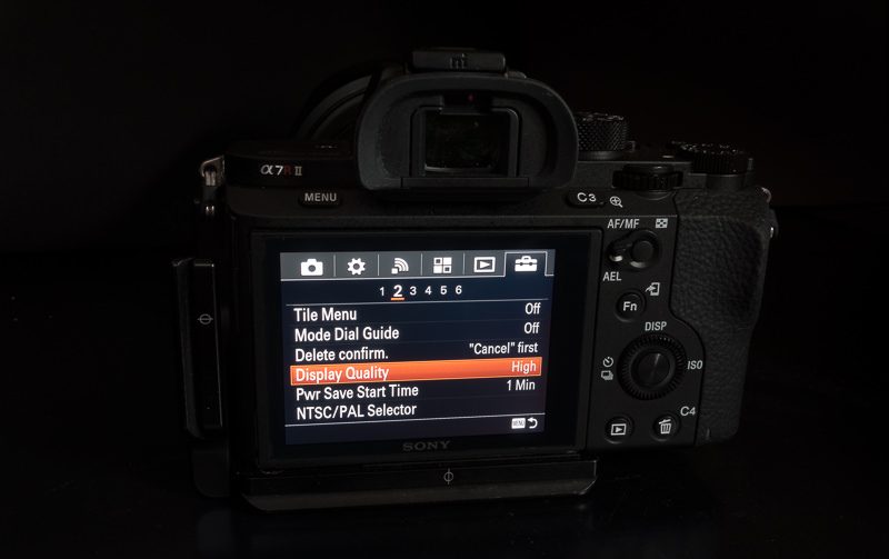 Fix EVF for Sony a7rII