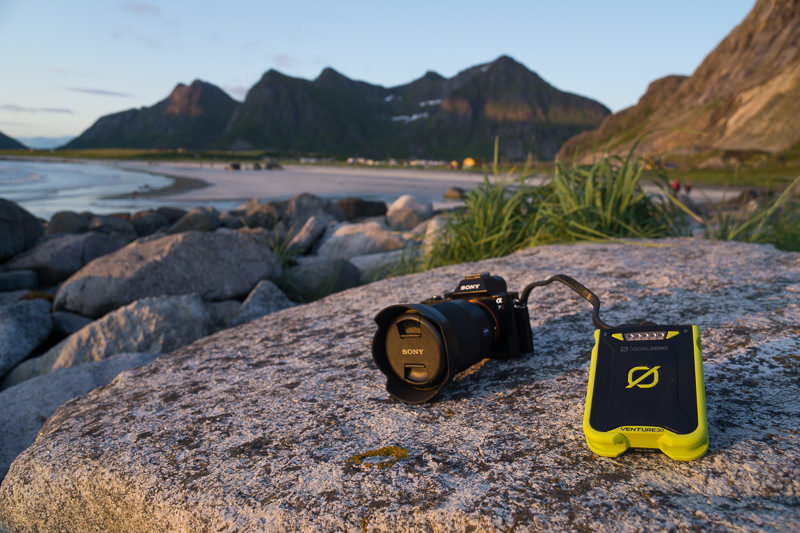 Charging a Sony a7r via a Goal Zero Venture 30 in Norway