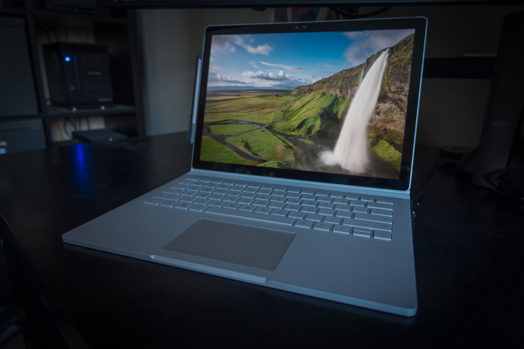 The Surface Book in standard mode