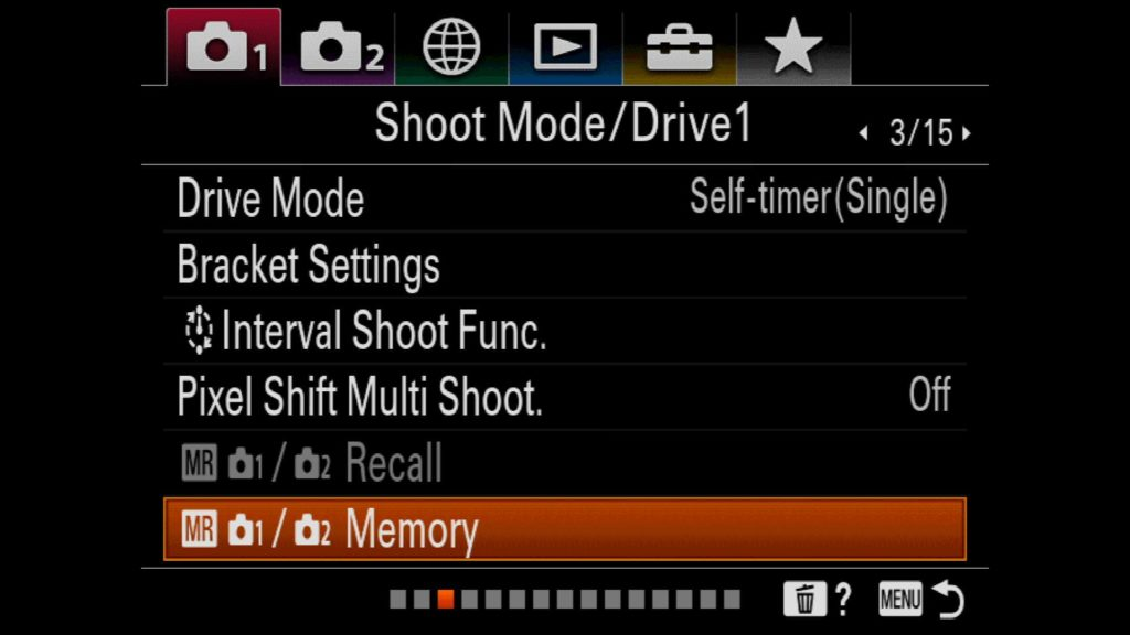 Memory Recall Functions Sony a7R IV
