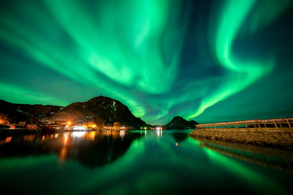 Large Solar Storm for Northern Lights in Norway Photography Workshop
